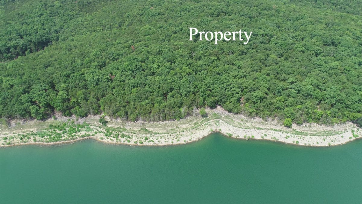 Aerial over the main channel looking toward the property.
