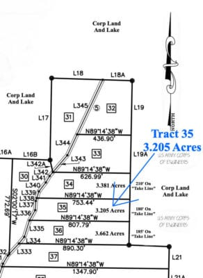 Survey map showing the property.