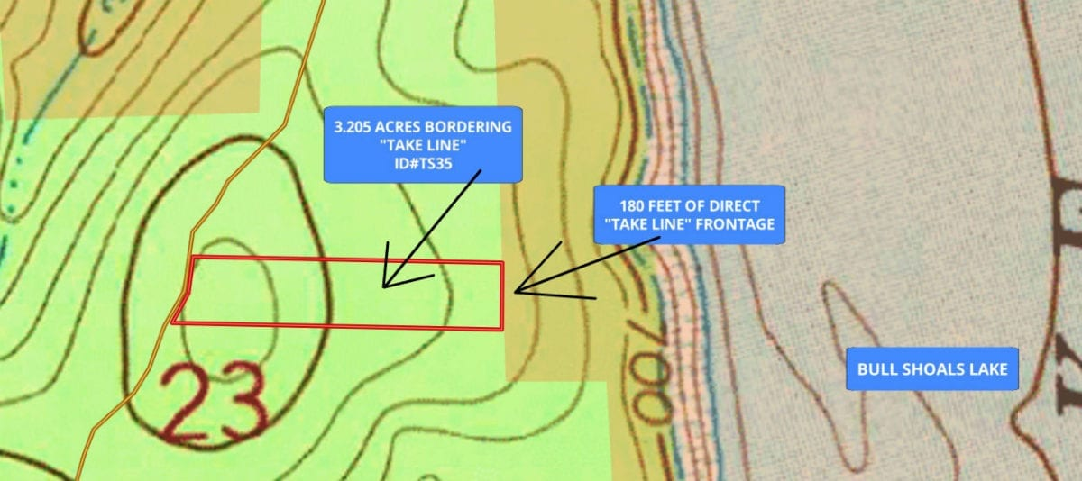 Topo map. The property is the highest on its west side by the easement road and it slopes down VERY gently as you move to the east.