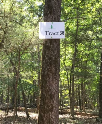 Tract 36 is 3.662 acres in size.