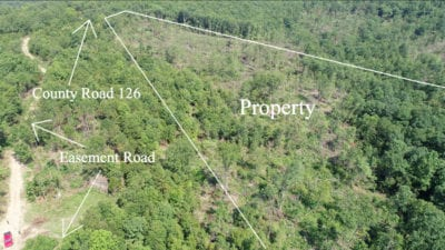 Aerial looking northwesterly over the property