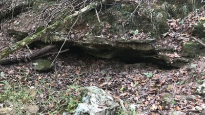 Cool rock ledge in the small creekbed