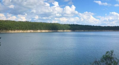Looking at the main channel from just north of the property. AMAZING section of the lake for fishing, swimming, tubing, jet skis and more!