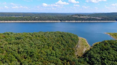 Over 900 feet of direct frontage on the Corp Land at the lake
