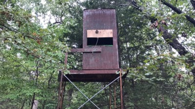 This appears to be a deerstand on the property