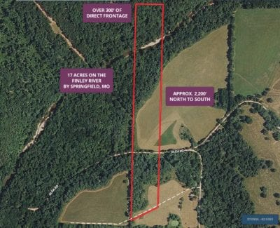 Aerial map showing how the property is situated