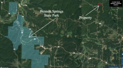 This tract is VERY close to Bennett Springs State Park.