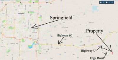 This tract is VERY close to Springfield but is also very private!