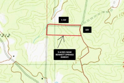 Topo map showing how the property is situated.