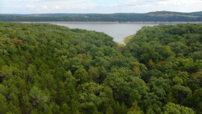 Aerial facing east toward the lake.