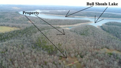 Aerial looking over the property.