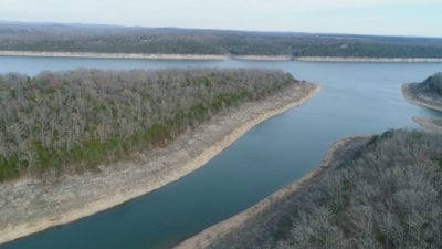 Aerial photo of state line cove.
