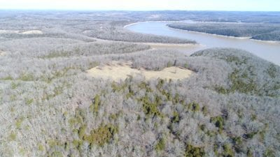 Looking north over the property towards Bull Shoals Lake.