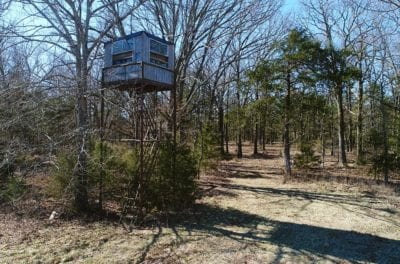 Spotting tower on the property.