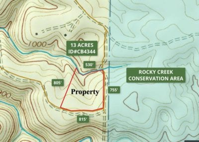Topo map of the property.