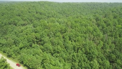 Aerial looking north east over the property.
