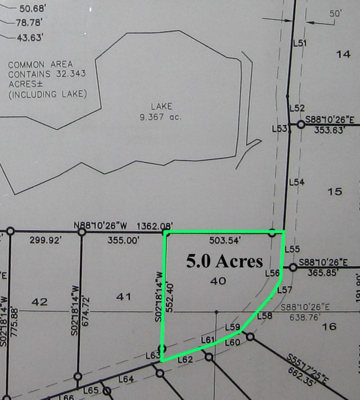 Lot 40 Survey Map